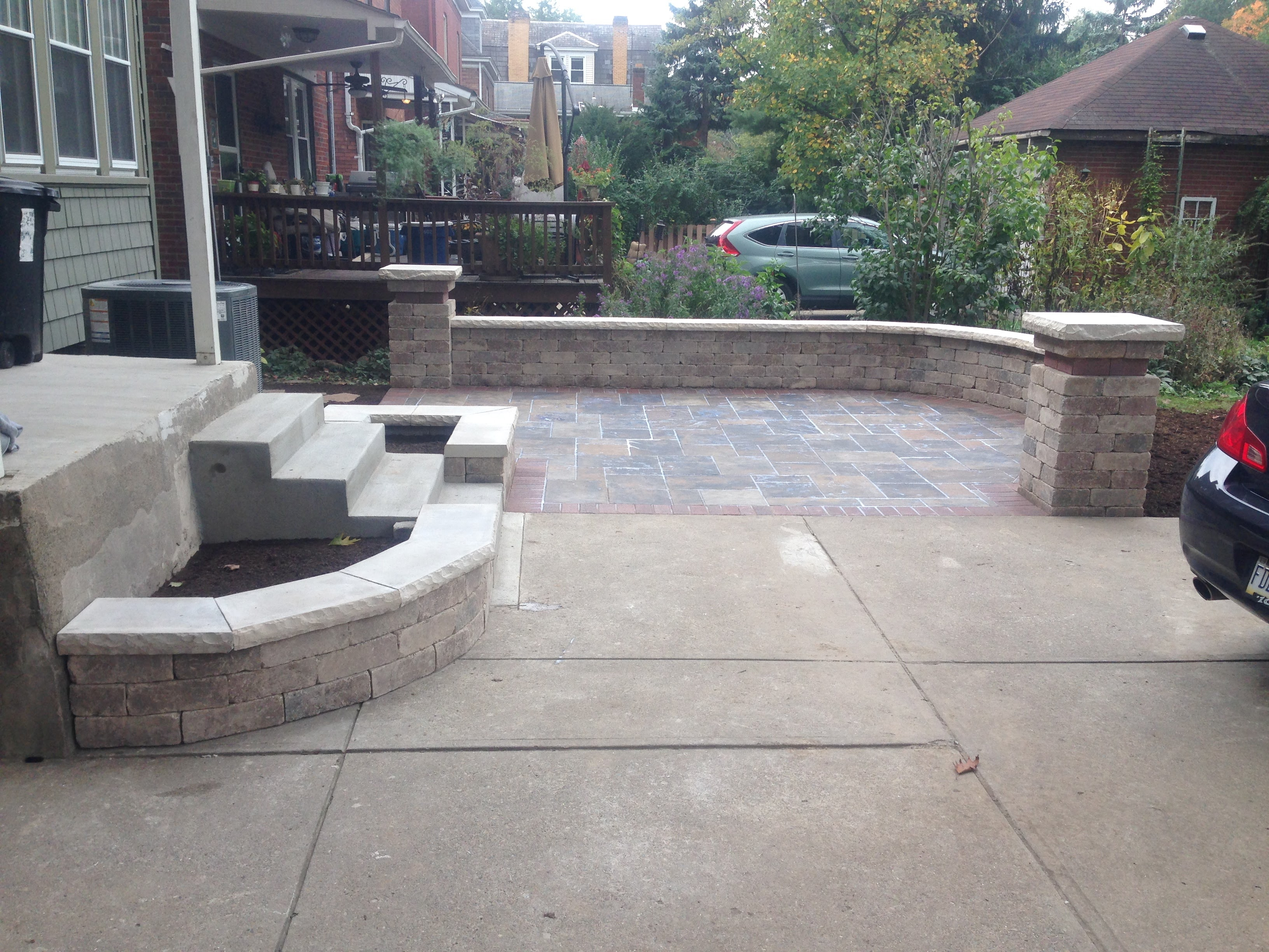 Patio and Sidewalk