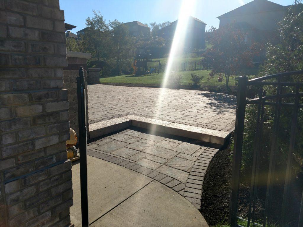 Patio and Sidewalk